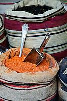 Spices for sale in spice shop, Khan el Khalili Bazaar, Cairo, Egypt