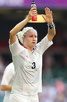 Goalscorer Stephanie HOUGHTON of Great Britain thanks the fans after the final whistle - Great Britain Women vs New Zealand Women - Womens Olympic Football Tournament London 2012 Group E at the Millenium Stadium, Cardiff, Wales - 25/07/12 - MANDATORY CREDIT: Gavin Ellis/SHEKICKS/TGSPHOTO - Self billing applies where appropriate - 0845 094 6026 - contact@tgsphoto.co.uk - NO UNPAID USE.