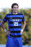 21 August 2015: Duke's Markus Fjortoft (NOR). The Duke University Blue Devils hosted the University of North Carolina Charlotte 49ers at Koskinen Stadium in Durham, NC in a 2015 NCAA Division I Men's Soccer preseason exhibition. The game ended in a 1-1 tie.