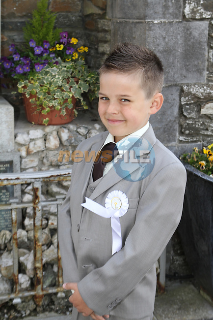 James Younger Hobbs at Callystown NS Communion in Clogherhead Church...(Photo Jenny Matthews/www.golffile.ie)