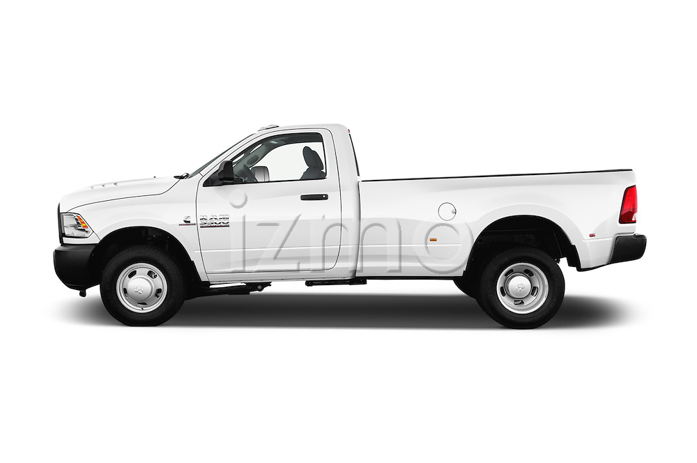 Car Driver side profile view of a 2018 Ram Ram-3500-Pickup Tradesman-Regular-cab 4 Door Pick-up Side View