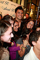 October 1, 2009:  Michael Copon and fans at the Anat B store opening party at  the Westfield Century City Mall in Los Angeles, California..Photo by Nina Prommer/Milestone Photo