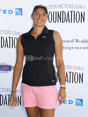 BURBANK, CA - JUNE 9: Emily Tubert at the Screen Actors Guild Foundation's 5th annual Los Angeles golf classic at Lakeside Golf Club on June 9, 2014 in Burbank, California. Credit: MPIMichelle/MediaPunch