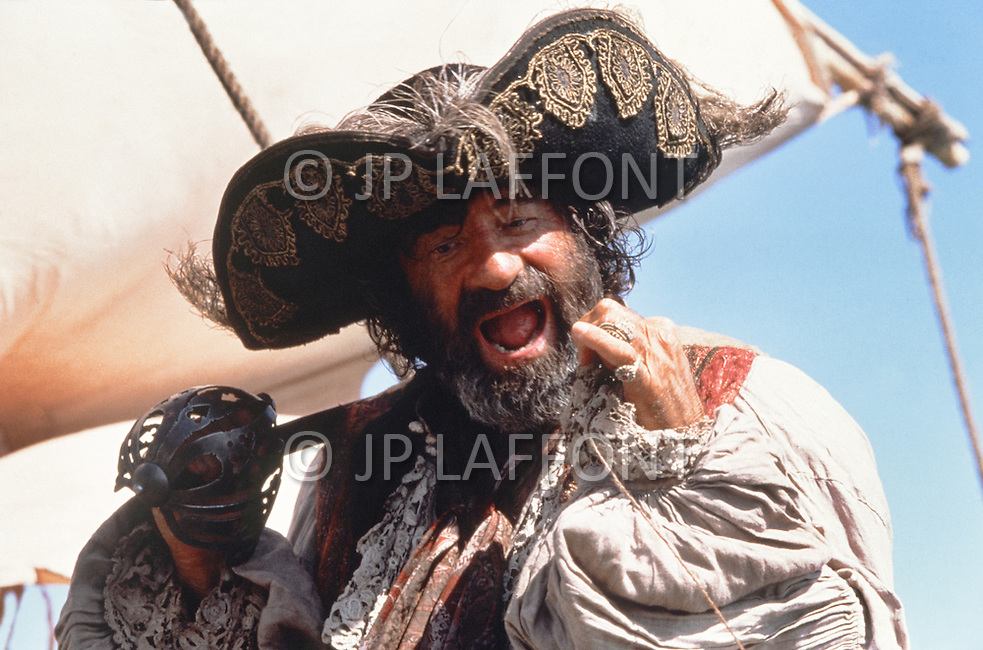 April, 1985. El Kantaoui, Tunisia. Walter Matthau (October 1, 1920 - July 1, 2000) on the set of the film The Pirates, directed by Roman Polanski.