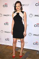 """HOLLYWOOD, LOS ANGELES, CA, USA - MARCH 21: Elisabeth Moss at the 2014 PaleyFest - """"Mad Men"""" held at Dolby Theatre on March 21, 2014 in Hollywood, Los Angeles, California, United States. (Photo by Celebrity Monitor)"""
