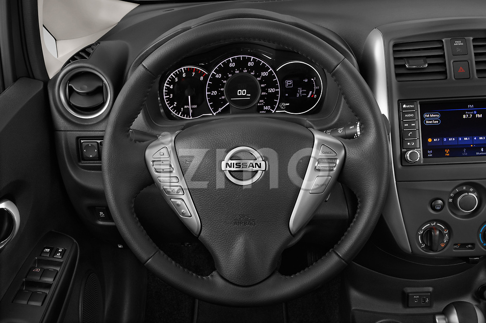Car pictures of steering wheel view of a 2019 Nissan Versa-Note SV 5 Door Hatchback