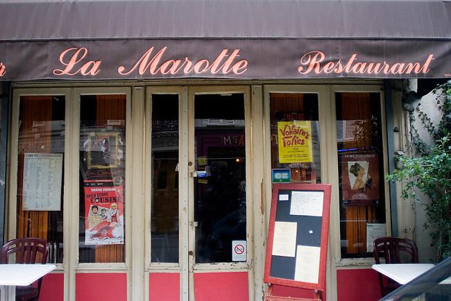Exterior, La Marotte Restaurant, Paris, France, Europe