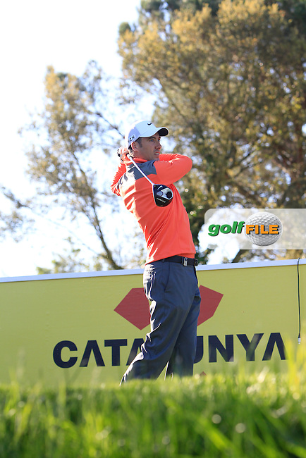 Ross Fisher (ENG) on the 13th tee during Thursday's Round 1 of The Open De Espana at The PGA Catalunya Resort. 15th May 2014.<br /> Picture:  Thos Caffrey / www.golffile.ie