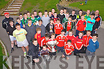 Members of Iveragh Eagles RFC U17's & U13's with the Magners League Trophy at the South Kerry Sports Center Cahersiveen on Thursday last.