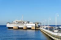 Ferry arrives in Oak Bluffs, Martha's Vineyard, Massachusetts, USA