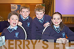 Scoil Chorp Chriost, Knockanure at the Credit Union Quiz on Sunday, from left: Cian Rogan, Conor Horgan, Tadhg McEvoy and Lauren OSullivan-Mahony.