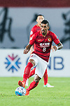Guangzhou Midfielder Paulinho Maciel in action during the AFC Champions League 2017 Round of 16 match between Guangzhou Evergrande FC (CHN) vs Kashima Antlers (JPN) at the Tianhe Stadium on 23 May 2017 in Guangzhou, China. (Photo by Power Sport Images/Getty Images)