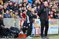 Bradford City manager Simon Grayson during the Sky Bet League 1 match between Bradford City and Gillingham at the Northern Commercial Stadium, Bradford, England on 24 March 2018. Photo by Thomas Gadd.