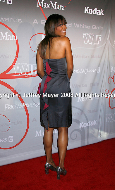 "Actress Aisha Tyler arrives at The 2008 Crystal + Lucy Awards, ""A Black And White Gala"" on June 17, 2008 at the Beverly Hilton Hotel in Beverly Hills, California."