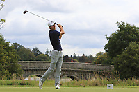 Tim Widing of Team Sweden on the 1st tee during Round 3 of the WATC 2018 - Eisenhower Trophy at Carton House, Maynooth, Co. Kildare on Friday 7th September 2018.<br /> Picture:  Thos Caffrey / www.golffile.ie<br /> <br /> All photo usage must carry mandatory copyright credit (&copy; Golffile | Thos Caffrey)