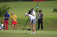 Chella Choi (KOR) in action on the 1st during Round 3 of the HSBC Womens Champions 2018 at Sentosa Golf Club on the Saturday 3rd March 2018.<br /> Picture:  Thos Caffrey / www.golffile.ie<br /> <br /> All photo usage must carry mandatory copyright credit (&copy; Golffile | Thos Caffrey)