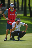 Rafael Cabrera Bello (ESP) lines up his putt on 1 during round 3 of the World Golf Championships, Mexico, Club De Golf Chapultepec, Mexico City, Mexico. 3/3/2018.<br /> Picture: Golffile | Ken Murray<br /> <br /> <br /> All photo usage must carry mandatory copyright credit (&copy; Golffile | Ken Murray)