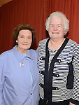 Helen Lennon pictured with Sheila Halpin at the function to mark her 25 years in the Pioneers. Photo:Colin Bell/pressphotos.ie