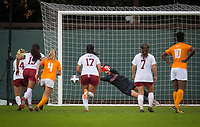 STANFORD, CA - November 23, 2018: Alison Jahansouz at Laird Q. Cagan Stadium. The top seeded Stanford Cardinal defeated the Tennessee Volunteers 2-0 in the Quarterfinal of the NCAA tournament.