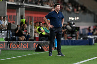 1st January 2020; Bankwest Stadium, Parramatta, New South Wales, Australia; Australian A League football, Western Sydney Wanderers versus Brisbane Roar; Robbie Fowler, coach of Brisbane Roar, watches play - Editorial Use