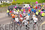 Stephanie release balloons to start the cycle in Milltown on sunday