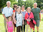 Jimmy and Susan Caraher, Caroline. Aoife and Tony Murphy, Linda and Grace Englishby pictured at the Ardee festival. Photo:Colin Bell/pressphotos.ie
