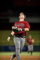 AZL Diamondbacks Jordan McArdle (45) pursues a pop fly in foul territory against the AZL Cubs on August 11, 2017 at Sloan Park in Mesa, Arizona. AZL Cubs defeated the AZL Diamondbacks 7-3. (Zachary Lucy/Four Seam Images)