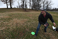 Bryce Kemph of Fayetteville makes his approach shot on hole 18 at J Beast Disc Golf Course in Springdale Monday Feb. 10, 2020. The Fayetteville Disc Golf Association is hosting their annual charity tournament Saturday Feb. 15 at Kessler Mountain Regional Park in Fayetteville. The event benefits the Northwest Arkansas Children's Shelter. More images at nwaonline.com/200211Daily/. (NWA Democrat-Gazette/J.T. Wampler)