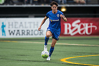 Seattle, WA - Saturday Aug. 27, 2016: Keelin Winters during a regular season National Women's Soccer League (NWSL) match between the Seattle Reign FC and the Portland Thorns FC at Memorial Stadium.