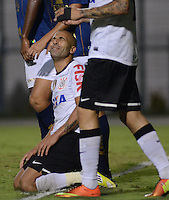 SAO PAULO SP, 27  MARCO 2013 - Paulistao 2013 - CORINTHIANS X PENAPOLENSE  -  Emerson lamenta gol perdido     durante partida valida pelo campeonato paulista de 2013 no Estadio do Pacaembu em Sao Paulo, nesta quarta feira , 27. (FOTO: ALAN MORICI / BRAZIL PHOTO PRESS).