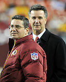 Landover, MD - December 27, 2009 -- Washington Redskins owner Daniel Snyder, left, and General Manager Bruce Allen, right, watch their team warm-up prior to the game against the Dallas Cowboys at FedEx Field in Landover, Maryland on Sunday, December 27, 2009..Credit: Ron Sachs / CNP.(RESTRICTION: NO New York or New Jersey Newspapers or newspapers within a 75 mile radius of New York City)