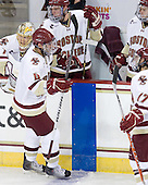 John Muse (BC - 1), Tommy Cross (BC - 4), Bill Arnold (BC - 24), Paul Carey (BC - 22), Brian Gibbons (BC - 17) - The Boston College Eagles defeated the visiting University of Toronto Varsity Blues 8-0 in an exhibition game on Sunday afternoon, October 3, 2010, at Conte Forum in Chestnut Hill, MA.