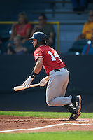 Great Lakes Loons catcher Garrett Kennedy (14) at bat during a game against the Clinton LumberKings on August 16, 2015 at Ashford University Field in Clinton, Iowa.  Great Lakes defeated Clinton 3-2 in ten innings.  (Mike Janes/Four Seam Images)