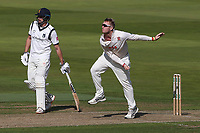 Simon Harmer in bowling action for Essex during Warwickshire CCC vs Essex CCC, Specsavers County Championship Division 1 Cricket at Edgbaston Stadium on 10th September 2019