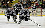 7 February 2009: Providence College Friars' left wing forward Andy Balysky, a Freshman from Randolph, N.J., leads an up-ice rush against the University of Vermont Catamounts during the second game of a weekend series at Gutterson Fieldhouse in Burlington, Vermont. The Catamounts swept the 2-game series notching 4-1 wins in both games. Mandatory Photo Credit: Ed Wolfstein Photo