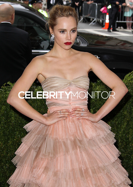 "NEW YORK CITY, NY, USA - MAY 05: Suki Waterhouse at the ""Charles James: Beyond Fashion"" Costume Institute Gala held at the Metropolitan Museum of Art on May 5, 2014 in New York City, New York, United States. (Photo by Xavier Collin/Celebrity Monitor)"