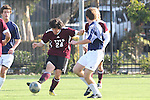 El Segundo, CA 02/04/10 - Jacob Engstrom (El Segundo#11) and \t24\ in action during the El Segundo - Torrance league game, El Segundo defeated Torrance with a late minute goal in the second overtime period.
