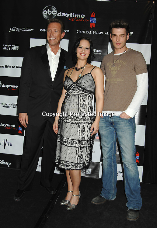 "Walt Willey, Sydney Penny and Brent Weber..at the afterparty for The 3rd Annual ""ABC Daytime Salutes Broadway Cares/Equity Fights Aids "" Benefit at the Marriott Marquis in New York on February 25, 2007. ..Robin Platzer, Twin Images.."