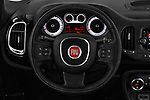 Car pictures of steering wheel view of a 2016 Fiat 500L Trekking 5 Door Mini MPV Steering Wheel