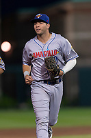 Amarillo Sod Poodles second baseman Hudson Potts (10) jogs off the field between innings of a Texas League game against the Springfield Cardinals on April 25, 2019 at Hammons Field in Springfield, Missouri. Springfield defeated Amarillo 8-0. (Zachary Lucy/Four Seam Images)