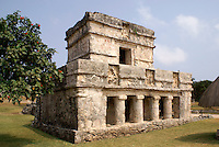 Temple of the Frescos at the Mayan ruins of Tulum on the Riviera Maya, Quintana Roo, Mexico.