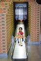 "September 17, 2011 : Yokohama, Japan - Children will also be able to play in an interactive Cup Noodle Park, which follows the noodle-making process from their creation in the kitchen to finding their way into stores during the grand opening of the Nissin Cup Noodles Museum. Visitors can learn about the history of the Cup Noodles product and partake in a session to make their own homemade instant ramen noodles at the museum's ""Chikin Noodle Factory"". The museum's art director, Kashiwa Sato, is also in charge of graphic design for the massive Japanese clothes retailer Uniqlo. (Photo by Yumeto Yamazaki/AFLO)"