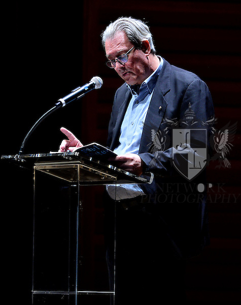 MIAMI, FL - FEBRUARY 21: Author Paul Auster read from his latest novel, '4 3 2 1' during A Evening with Paul Auster & friends! MUSIC, MAGIC & THE MUSE: features performance by singer Sophie Auster and magicians David Blaine at Adrienne Arsht Center - Knight Concert Hall on February 21, 2017 in Miami, Florida. ( Photo by Johnny Louis / jlnphotography.com )