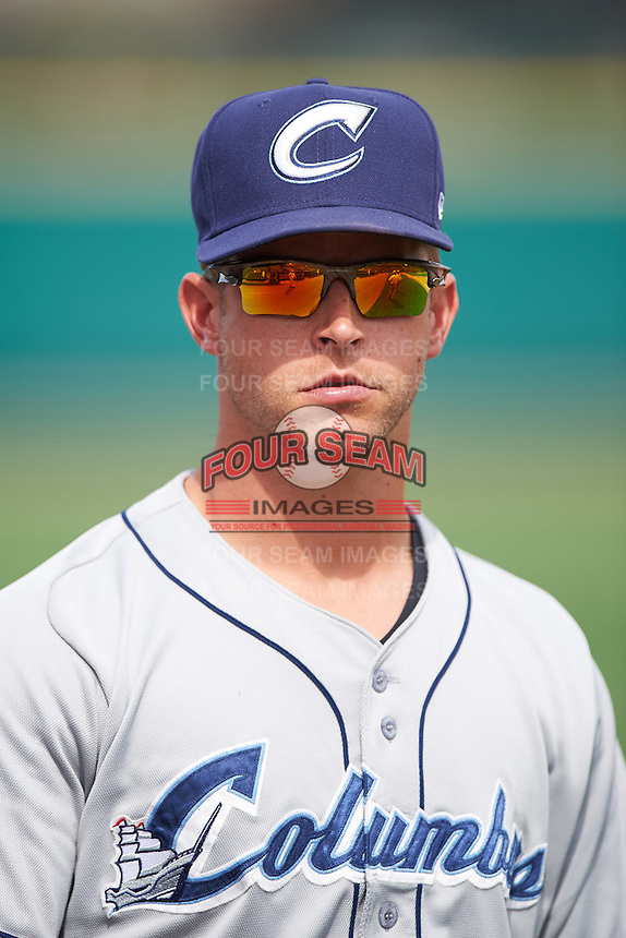 Columbus Clippers pitcher Austin Adams (10) walks to the dugout after a game against the Rochester Red Wings on June 16, 2016 at Frontier Field in Rochester, New York.  Rochester defeated Columbus 6-2.  (Mike Janes/Four Seam Images)