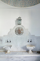 In the bathroom is a traditional Ottoman hammam using Marmara marble.