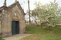 "The Royal Tokaji Wine company in Mad: the entrance to the undergrouind cellar, very typical with an imposing carved stone entrance with an iron door or gate. The RTWC in was one of the first Tokaj wineries to be ""revived"" by an injection of foreign capital. It makes wine in a traditional style. Credit Per Karlsson BKWine.com"