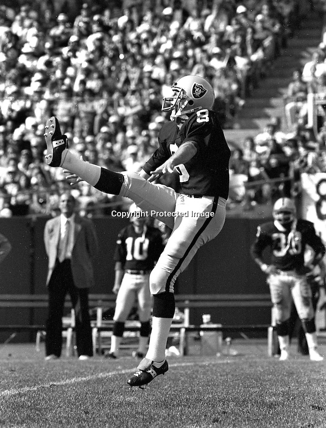 Oakland Raider punter Ray Guy...(1981 photo/Ron Riesterer)