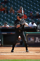 Ethan Paul (10) of the Vanderbilt Commodores at bat against the Sam Houston State Bearkats in game one of the 2018 Shriners Hospitals for Children College Classic at Minute Maid Park on March 2, 2018 in Houston, Texas. The Bearkats walked-off the Commodores 7-6 in 10 innings.   (Brian Westerholt/Four Seam Images)