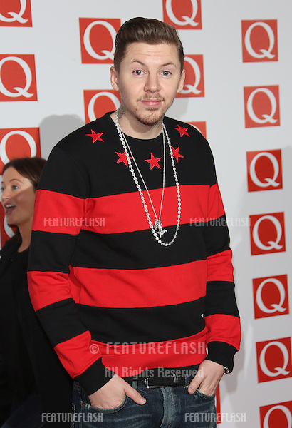 Professor Green arriving for The Q Awards 2012 held at the Grosvenor Hotel, London. 22/10/2012 Picture by: Henry Harris / Featureflash