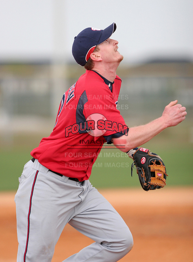 Washington Nationals minor leaguer Greg Thissen during Spring Training at the Carl Barger Training Complex on March 19, 2007 in Melbourne, Florida.  (Mike Janes/Four Seam Images)